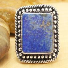 Lapis Lazuli Ring , Silver Lapis Lazuli Ring, Gemstone Ring, Crystal Ring, Statement Ring, Boho Ring, Cocktail Ring