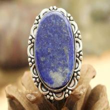 Lapis Lazuli Ring Sz 7, Silver Lapis Lazuli Ring, Gemstone Ring, Crystal Ring, Statement Ring, Boho Ring, Cocktail Ring
