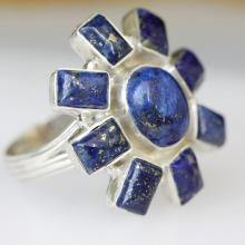 Lapis Lazuli Ring, A Stone Of Protection Blue Color Solid Sterling Silver Gemstone