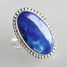 Lapis Lazuli Ring, A Stone Of Protection, Blue Color , Solid Sterling Silver Gemstone