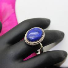 Lapis Lazuli Ring, Sterling Silver Ring , Gemstone Ring