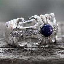 Lapis Lazuli and Sterling Silver Cocktail Ring