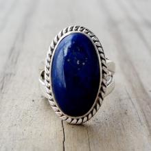 Lapis Ring - Blue Lapis Lazuli Ring - Lapis Jewelry - Silver Ring - Gemstone Ring - Blue Stone Ring - Nepalese Tibetan Jewelry