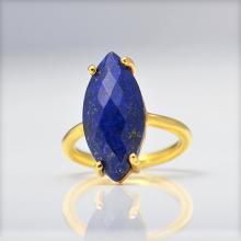 Lapis Ring, Gemstone Ring, Stacking Ring, Gold Ring, Marquise Ring, Prong Set Ring, September Birthstone ring, Statement ring, lapis jewelry