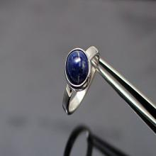 Lapis Silver Ring lapis Lazuli Sterling Silver Ring Lapis Ring Lapis Lazuli Ring Afganistan lapis lazuli Dark Blue Gemstone Ring