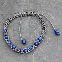 Lapis lazuli Shambhala-style bracelet