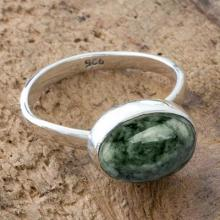 Light Green Guatemalan Sterling Silver Ring