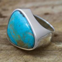 Mexican Taxco Silver  Turquoise Women's Ring