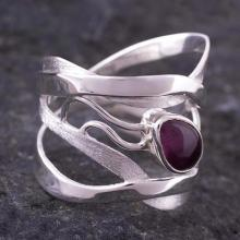 Modern Sterling Silver Single  Band Ring