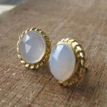 Moonstone Earring- Gemstone Earring- Stud Earring- Statement Earring- Earring- Silver Earring- Birthstone Earring