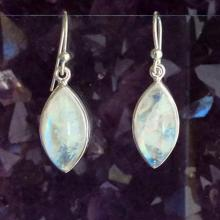 Moonstone Earrings  Moonstone Jewelry  Rainbow Moonstone  Gemstone Earrings Gemstone Jewelry Celestial Jewelry  Drop Earrings