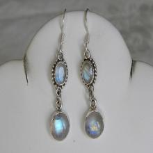 Moonstone Earrings Stunning Handmade Earrings Blue Semiprecious Gemstone Sterling Silver Earrings Women's Moonstone Jewelry
