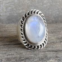 Moonstone Ring,Silver Ring,Stone Ring,Moonstone Silver Ring,Rainbow Ring,Sterling Silver Ring,Rainbow Moonstone