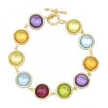 Multicolored Gemstone Bracelets