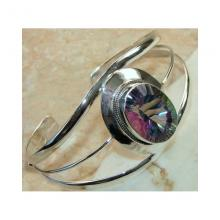 Mystic Topaz Bangle 925 Sterling Silver c