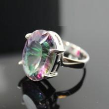 Mystic Topaz Ring,Sterling Silver Ring , Gemstone Ring
