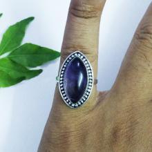 NATURAL PURPLE AMETHYST Gemstone Ring - Birthstone Ring - 925 Sterling Silver Ring - Artisan Handmade Ring - Fashion Beach Ring - Gift Ring