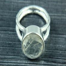 Natural Golden Rutile Ring, Rutile Ring, Gemstone Ring, 925 Silver Plated, Silver Ring, Gemstone Jewelry