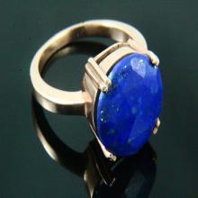 Natural Lapis Lazuli Ring, Lapis Jewelry, Lapis Lazuli Ring, Gemstone Ring, 18K Rose Gold Plated, Rose Gold Ring, Gemstone Jewelry