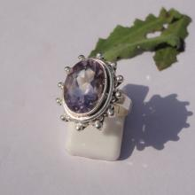 Natural Purple Amethyst Gemstone Ring - Bezel Set Artisan Ring - Handmade Designer Ring - Best Gift - All Ring Size - Birthstone Ring