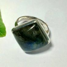 Natural labrodrite Gemstone Ring - Bezel Set Artisan Ring - Handmade Ring - Birthstone Ring - Best Gift - Valentine's Ring