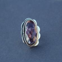 PURPLE AMETHYST Faceted 925 Sterling Silver hydro Statement Ring