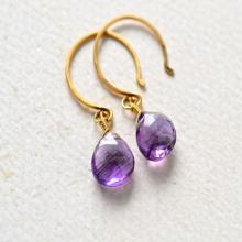 Passiflora Earrings - amethyst earrings, purple amethyst gemstone earrings, amethyst drop earrings, amethyst february birthstone