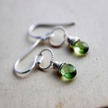 Peridot Earrings, Peridot Jewelry, August Birthstone, Drop Earrings Dangle Earrings, Lime Green, Birthstone Jewelry, Green Gemstone