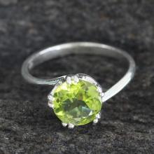 Peridot Ring Hand Made Modern Jewelry