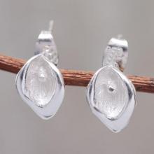 Petite Andean Silver  Flower Stud Earrings