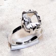 Prong Ring,Crystal Rings,Sterling Silver, Gemstone Ring,Engagement Ring, Solid Sterling Silver Ring, Boho Rings, Plain Rings