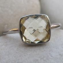 Quartz Ring- Topaz Ring- Stone Ring- Amethyst Ring- Gemstone Rings- Lemon Quartz Ring- Silver Ring- Topaz Ring- Bezel Ring