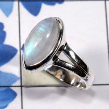 Rainbow Moonstone Ring, Moonstone Ring, Plain Ring, Rainbow Ring, Handmade Women Ring, Silver Stone Ring, Promise Ring