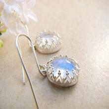 Rainbow Moonstone earrings, silver earrings, bridal earrings, gemstone earrings, wedding jewelry, sterling silver