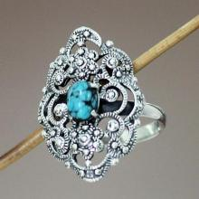 Reconstituted Turquoise Ring