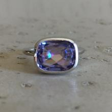 Rectangle Mystic Topaz Ring- Promise Ring- Topaz Ring- Gemstone Ring- Stack Ring- Unique Ring- Sterling Silver Ring