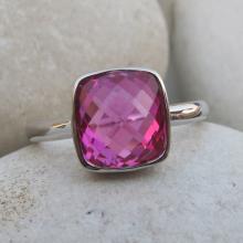 Rose Quartz Rings- Pink Quartz Ring- Rose Gold Rings- Gemstone Rings- Pink Stone Rings- Ruby Rings- July Birthstone Ring- Pink