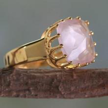 Rose Quartz and  Ring