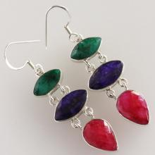 Ruby Earring, It Is An Excellent Stone For Recharging Your Energy Levels, Solid Sterling Silver Gemstone