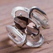Silver 925 Ring with Smoky Quartz