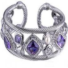 Silver Chain Pave CZ bracelets