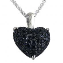 Silver Chain Pave CZ pendant