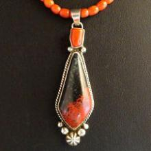 Silver Coral Beads pendant
