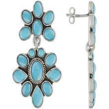 Silver Step earrings