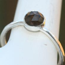 Smoky Quartz Ring, Brown Ring, Fine Silver Ring, Gemstone Ring, Smoky Topaz, Ring, Brown Silver Ring