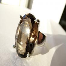 Smoky Quartz Sterling Silver Ring natural gemstone ring jewelry,birthday,gift, giftidea, bride, engagement,gemstone