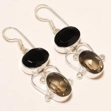 Smoky Topaz Earrings in Handmade .925 Silver Drop Earrings