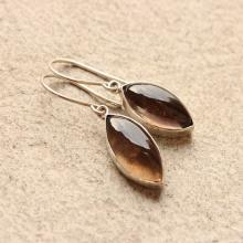Smoky quartz earrings - drop earrings - Brown earrings - Earrings for women