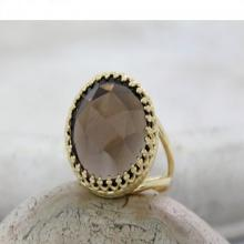 Smoky quartz ring,personalized ring,gold ring,big large ring,gemstone ring,mother's gift,sister's ring,family ring