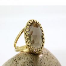 Smoky quartz ring,smokey ring,gold ring,oval ring,bridal ring,bridesmaid gifts,love gift,i love you ring